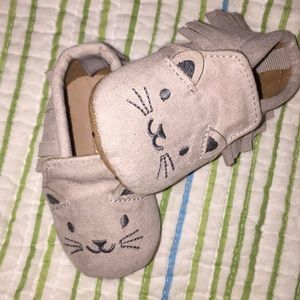 Kitty Moccasins  (0-3months)